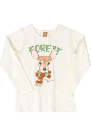 Up Baby Blusa Manga Longa Forest Off White