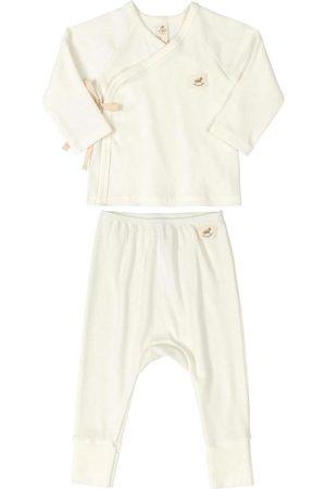 Up Baby Conjunto Cardigan e Calça Off White