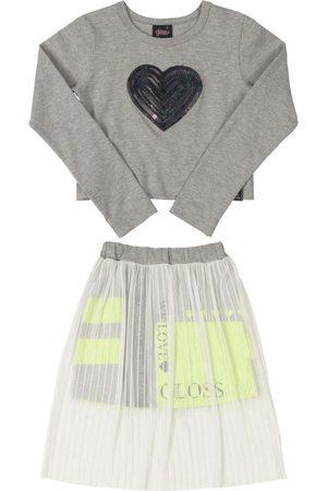 Gloss Conjunto Infantil Blusa e Saia