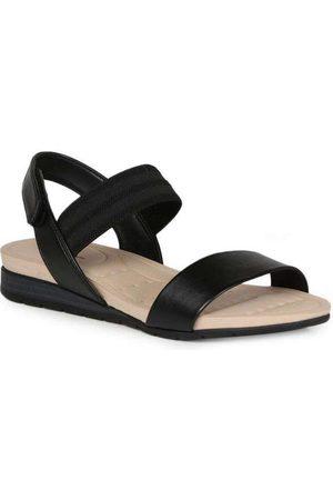 MODARE Sandália Rasteira Feminina Conforto Velcro