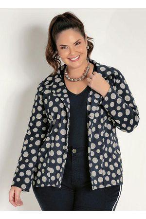 Marguerite Blazer Poá com Botões Plus Size