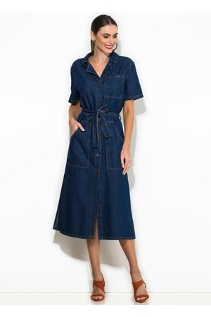 Colcci Vestido Midi Jeans