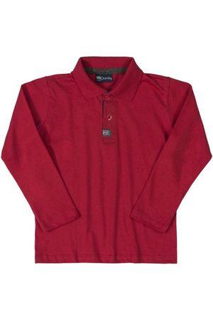 Quimby Camisa Polo Infantil Longa Bordo