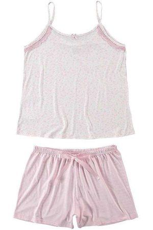 Malwee Pijama Feminino 1000073431 B591b- -Claro