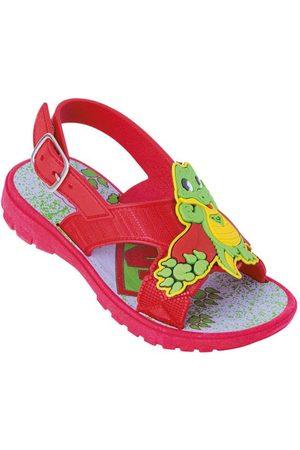 Perfecta Sandália Infantil Vermelha com Aplique