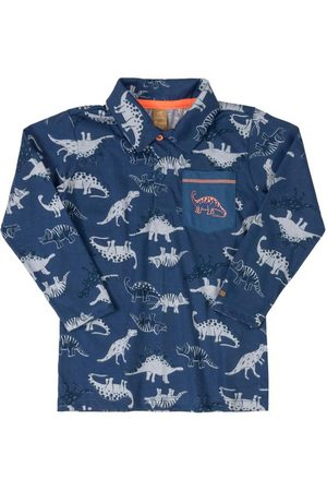 Up Baby Camisa Polo Manga Longa Dinossauro