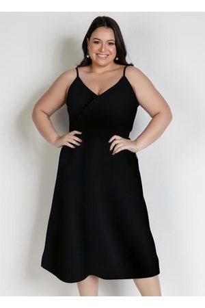 Marguerite Vestido Midi com Alças Plus Size