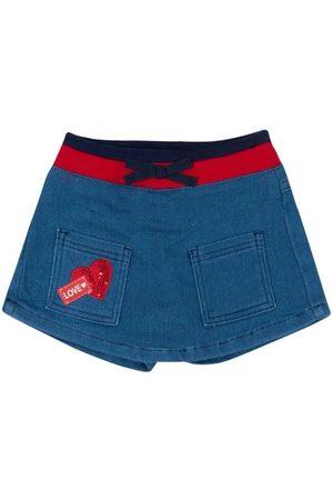 Momi Menina Saia Jeans - Saia Short Jeans