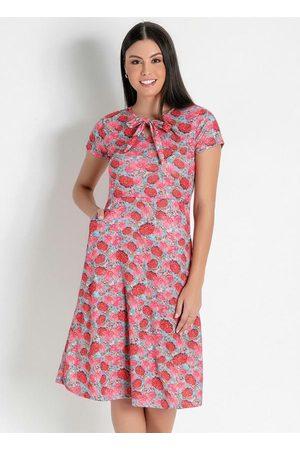 Rosalie Vestido com Bolsos Floral Moda Evangélica