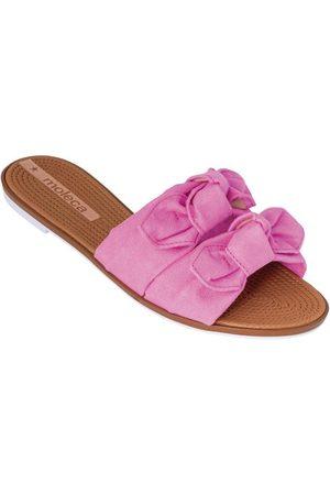 MOLECA Mulher Chinelos - Chinelo Pink em Camurça