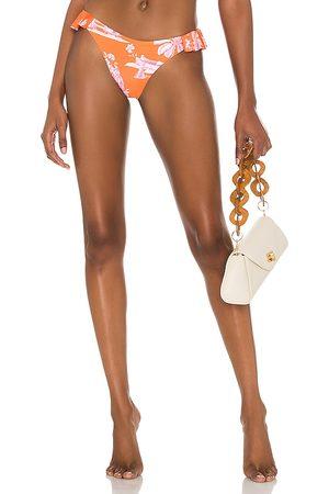 Agua Bendita X REVOLVE Rachel Bikini Bottom in Orange. - size L (also in M, S, XS)