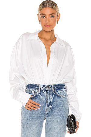 Norma Kamali Oversized Boyfriend NK Shirt Bodysuit in . - size L (also in M, S, XS)