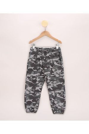 PALOMINO Menino Calça de Alfataria - Calça de Sarja Infantil Jogger Estampada Camuflada Chumbo