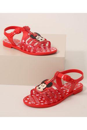 GRENDENE Menina Sandálias - Sandália Infantil Minnie Vermelha