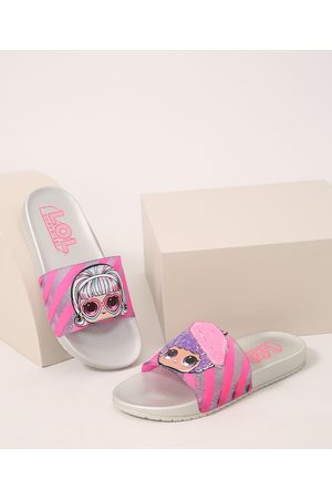 GRENDENE Menina Chinelos - Chinelo Infantil Slide LOL Surprise