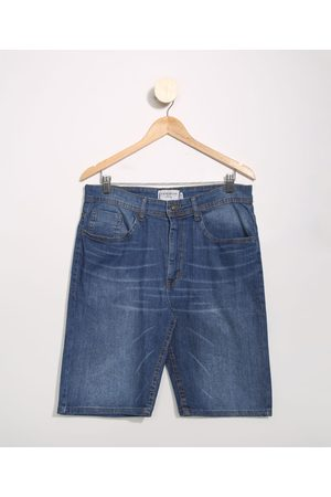 Clockhouse Homem Bermuda - Bermuda Jeans Masculina Básica Slim Médio