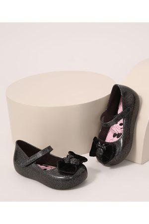 GRENDENE Menina Sapatilhas - Sapatilha Infantil Minnie com Laço e Glitter Preta