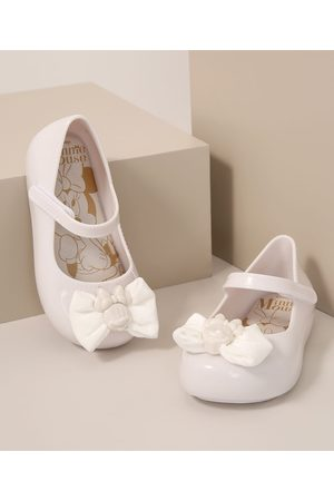 GRENDENE Menina Sapatilhas - Sapatilha Infantil Minnie com Laço Branca