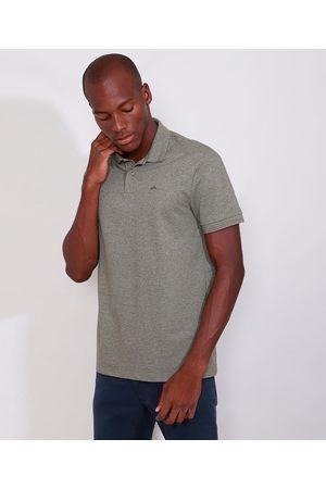 Basics Homem Camisa Pólo - Polo de Piquet Masculina Básica Comfort Manga Curta