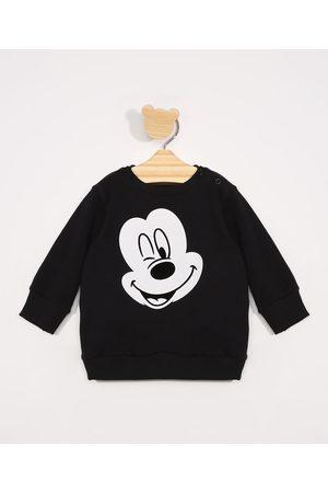 Disney Menino Moletom - Blusa de Moletom Infantil Mickey Preta