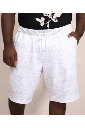 Suncoast Bermuda de Moletom Masculina Plus Size Relaxed com Cordão e Bolsos Branca
