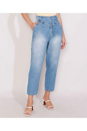 SAWARY Mulher Calça Cintura Alta - Calça de Jeans Feminina Slouchy Cintura Super Alta com Pences Médio
