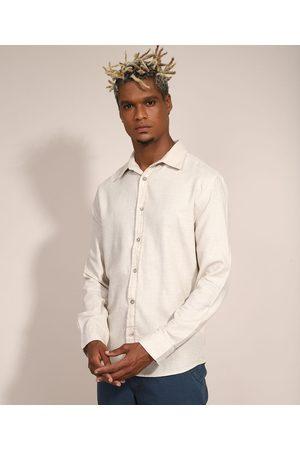 Suncoast Homem Camisa Casual - Camisa Masculina Tradicional Manga Longa Off White