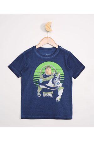 Disney Menino Camisolas de Manga Curta - Camiseta Infantil Manga Curta Buzz Toy Story