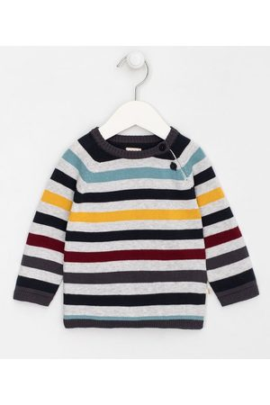 Teddy Boom (0 a 18 meses) Criança Casacos - Blusão Infantil Listrado em Tricô - Tam 0 a 18 meses | | Multicores | 9-12M
