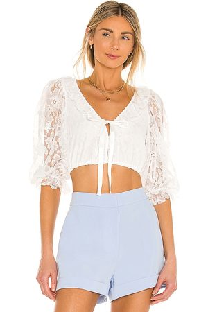 For Love & Lemons Loretta Cropped Blouse in . - size L (also in M, S, XS)