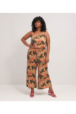 Ashua Curve e Plus Size Macacão - Macacão Pantacourt Estampado Curve & Plus Size       GG
