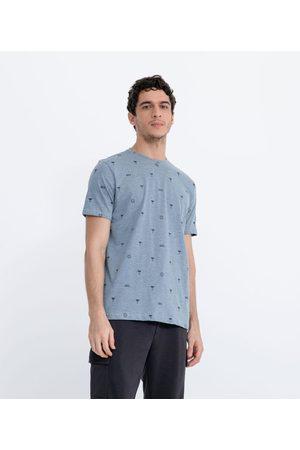 Ripping Homem Camisolas de Manga Curta - Camiseta Estampada com Coqueiros | | | P