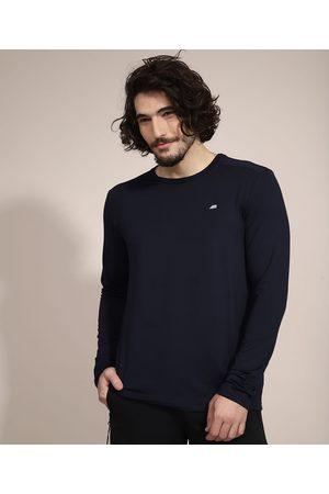 ACE Camiseta Masculina Esportiva com Proteção UV50+ Manga Longa Gola Redonda