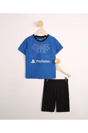 Playstation 3 Menino Pijamas - Pijama Infantil Plasytation Manga Curta