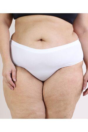 TRIFIL Calcinha Plus Size Caleçon Modeladora Branca