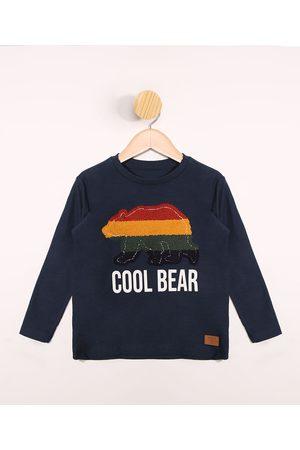 "PALOMINO Camiseta Infantil Cool Bear"" Manga Longa Gola Careca """