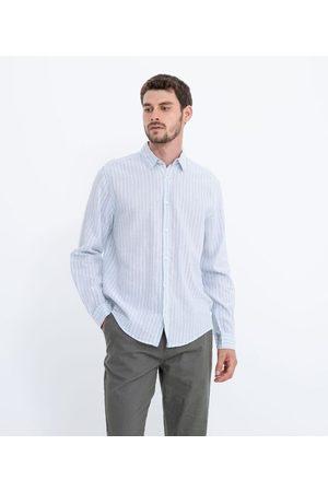 Marfinno Camisa Listrada em Linho | | | M