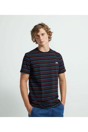 Blue Steel Homem Camisolas de Manga Curta - Camiseta Listrada com Estampa Wise       M