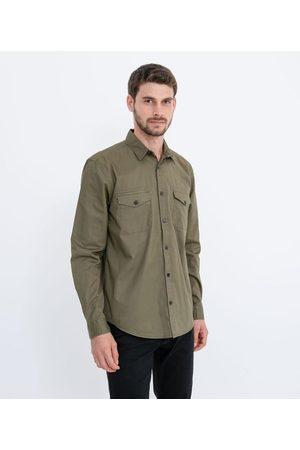 Marfinno Camisa em Sarja com Bolsos | | | G