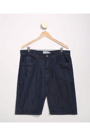 Clockhouse Homem Bermuda - Bermuda Jeans Masculina Básica Slim Escuro