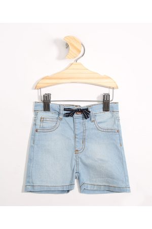 BABY CLUB Short Jeans Infantil com Cordão Médio