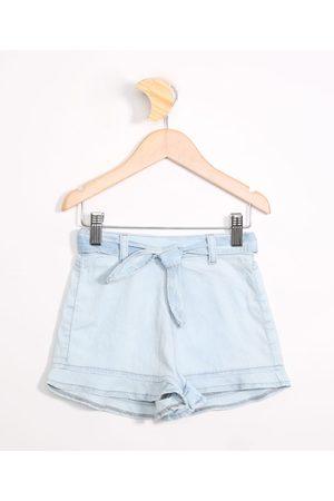 PALOMINO Menina Short - Short Jeans Infantil com Cinto Médio