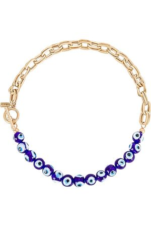 8 Other Reasons Colares - Evil Eye Chain Necklace in Metallic .