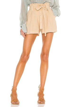 L'Agence Mulher Short - Hillary Paperbag Shorts in Neutral. - size 24 (also in 25, 26, 27, 28, 29, 30)
