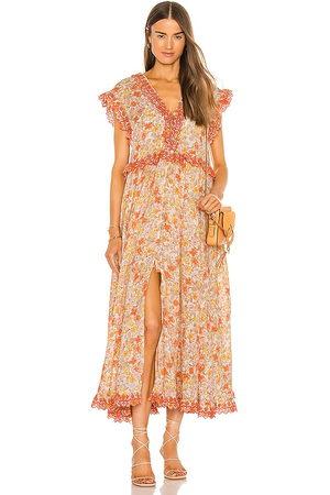 Free People Mulher Vestido Médio - Milania Midi Dress in Orange. - size L (also in M, S, XS)