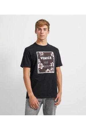 Ripping Homem Camisolas de Manga Curta - Camiseta com Estampa Floral | | | P