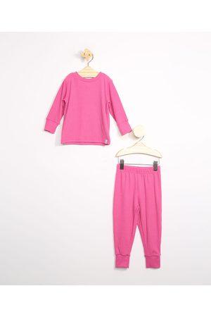 BABY CLUB Pijama Infantil Canelado Manga Longa Escuro