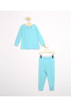 BABY CLUB Menina Pijamas - Pijama Infantil Canelado Manga Longa Claro