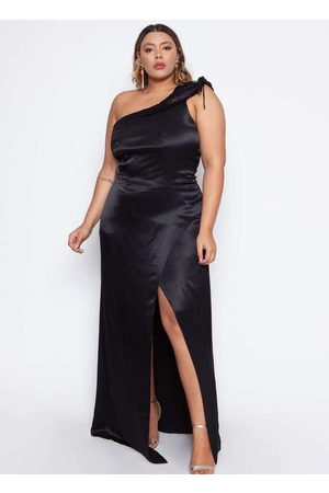 Pianeta Vestido Almaria Plus Size Acetinado