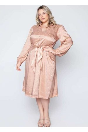 Pianeta Mulher Vestido Médio - Vestido Almaria Plus Size Midi Plus Size C